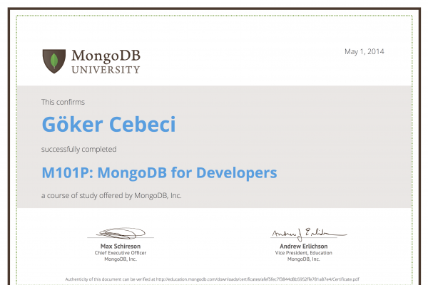 M101P: MongoDB for Developers
